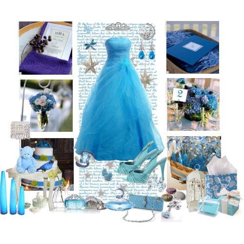 D coration de mariage bleue d coration mariage tendance - Deco de table bleu et gris ...