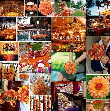 D coration de mariage orange une couleur originale - Mariage couleur orange ...