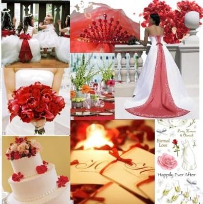décorations de mariage rouge: le luxe et le glamour
