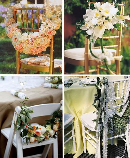 d corations de chaises des id es pour d corer les chaises d coration mariage tendance. Black Bedroom Furniture Sets. Home Design Ideas