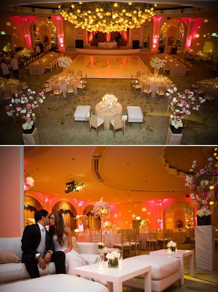 Décoration de mariage glamour: rose – Décoration Mariage Tendance
