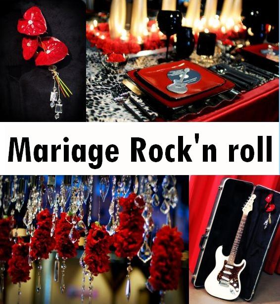 Les décorations de mariage rockn\u0027 roll sont glamour, à l\u0027image de ces  photos de mariage theme rock\u0027n rll, la folie, les decors rouges et les  decorations de