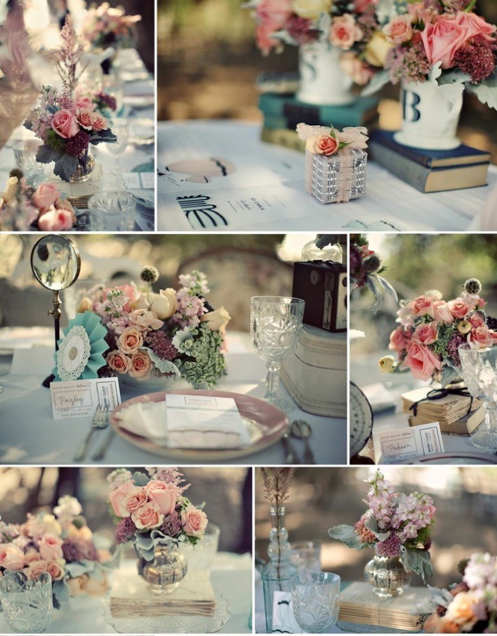 D coration de mariage vintage un mariage r tro for Decoration de table idees