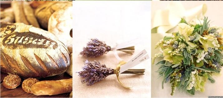 Décoration de mariage thème Provence  lavende et herbes