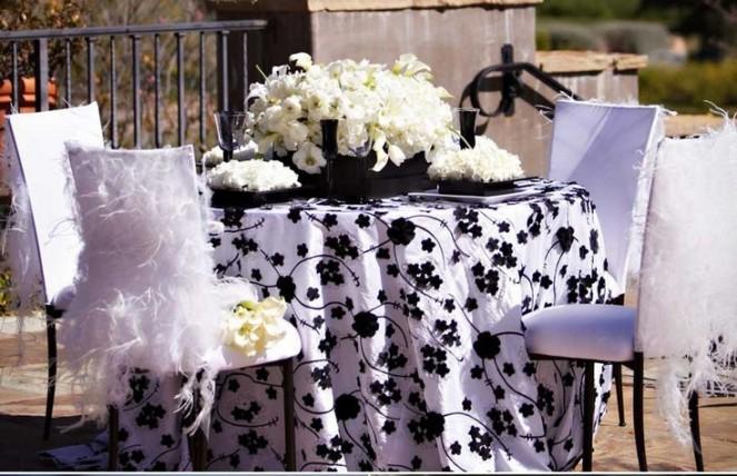 d coration de table noire et blanche d coration mariage. Black Bedroom Furniture Sets. Home Design Ideas