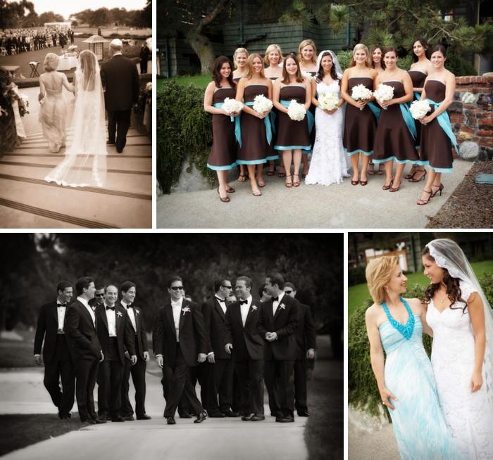 Vrai mariage: décoration de mariage bleu, blanche et chocolat theme ...