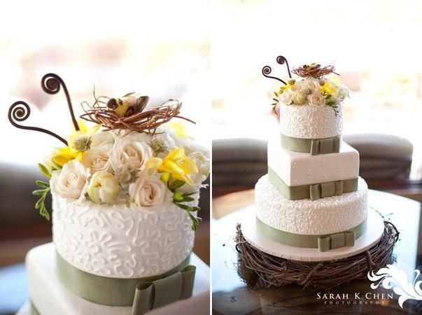 D coration de mariage th me oiseaux et nid d oiseau d coration mariage tendance - Decoration gateau mariage ...
