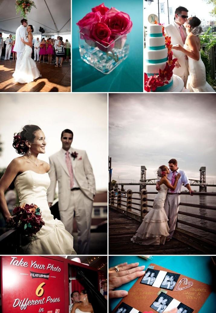 Vrai mariage turquoise fushia et orange – Décoration Mariage ...