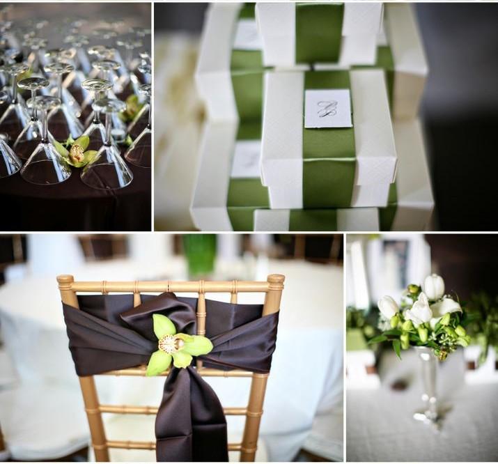 Vrai mariage vert anis et chocolat un sacr m lange for Centre de table vert anis