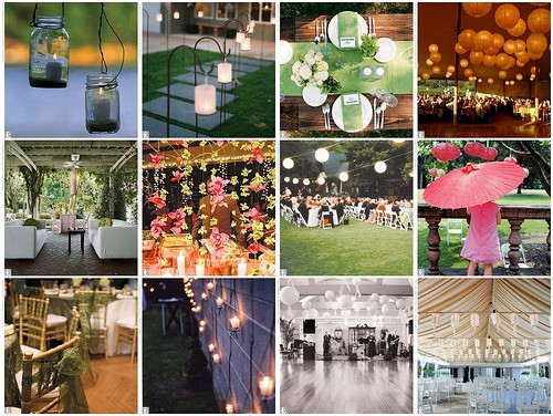 Outdoor Wedding Reception Decoration Photography