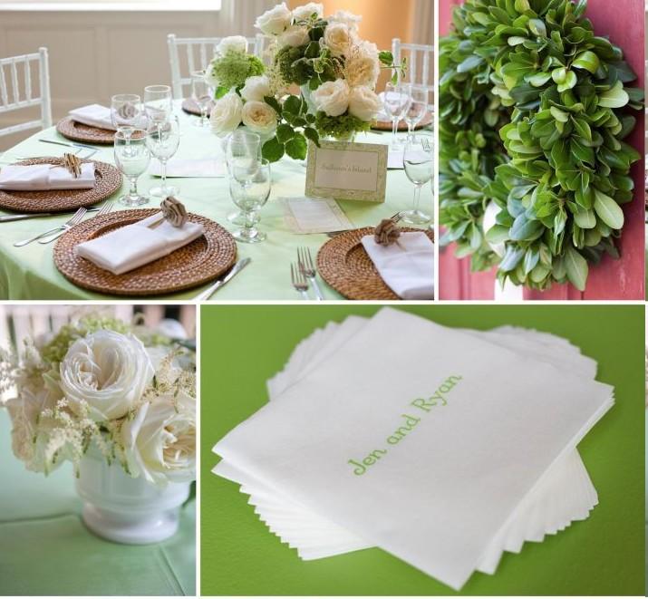 vrai mariage vert naturel simple – Décoration Mariage Tendance