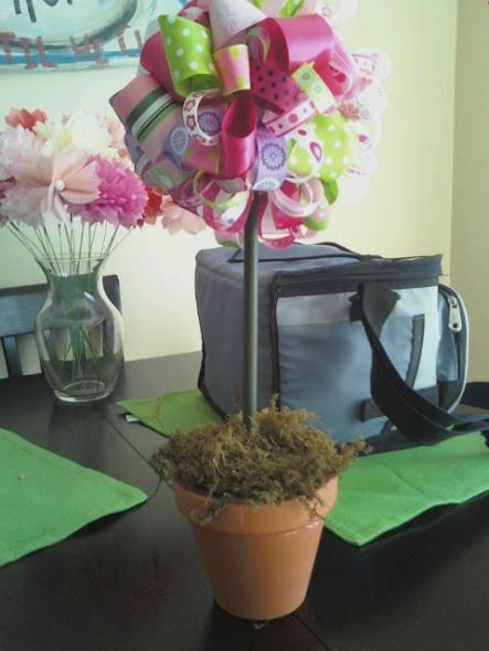 boule de fleurs de rubans a faire soi meme diy d coration mariage tendance. Black Bedroom Furniture Sets. Home Design Ideas