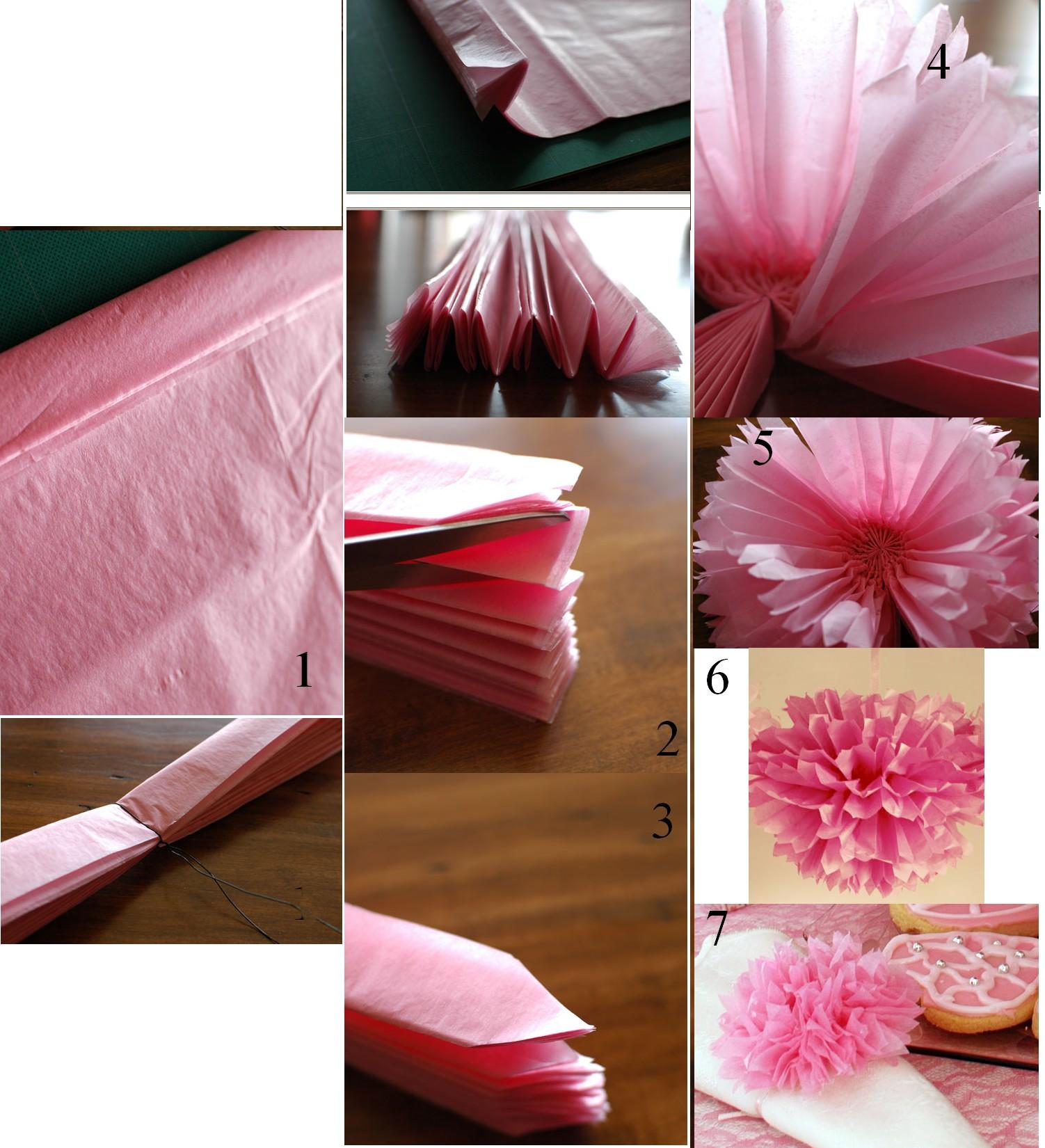 Pompon a faire soi meme diy d coration mariage tendance - Decoration en papier a faire soi meme ...