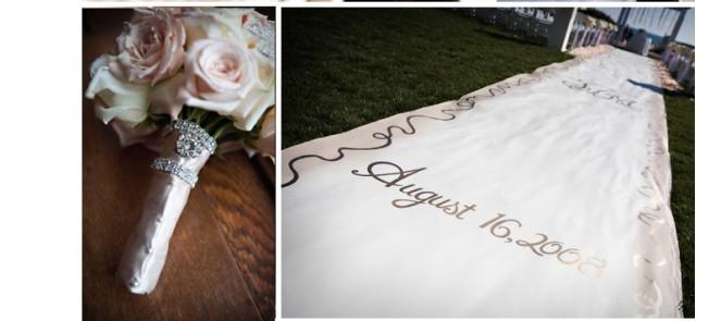6 d tails tendances pour l glise ou la c r monie de mariage d coration mariage tendance - Tapis personnalise mariage ...