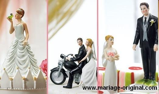Figurine gateau de mariage originale