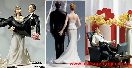 une figurine de gateau de mariage tendance d coration. Black Bedroom Furniture Sets. Home Design Ideas