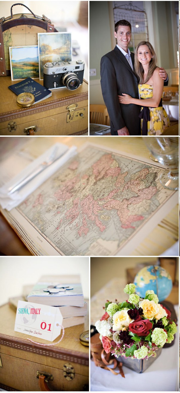 Deco de mariage theme voyage vintage d coration mariage - Decoration table mariage theme voyage ...
