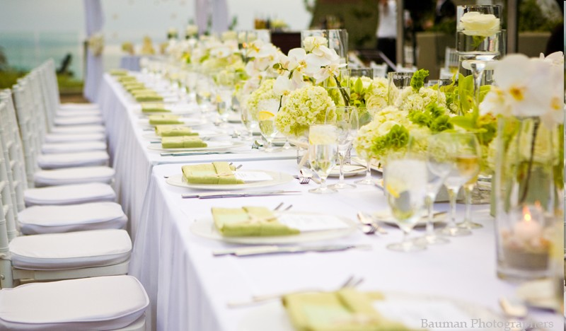 10 decorations de salle de mariage vertes d coration - Decoration de table mariage chic ...