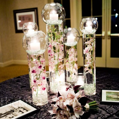 D corations avec des orchid es artificielles d coration - Centre de table fleurs artificielles ...