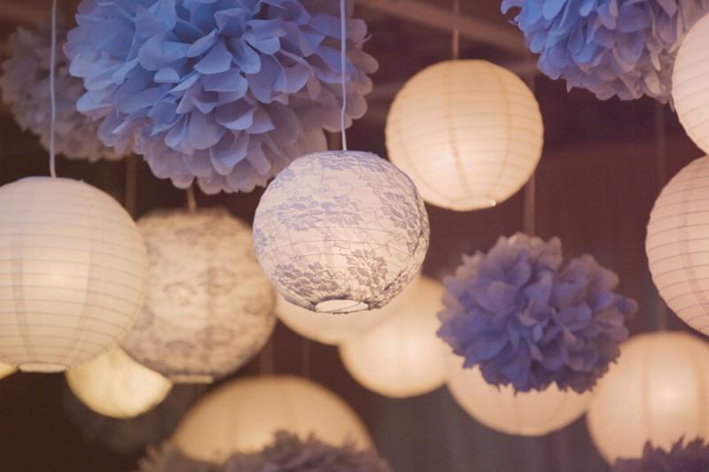 Pompons et en decoration de mariage d coration mariage tendance - Lanterne papier ikea ...
