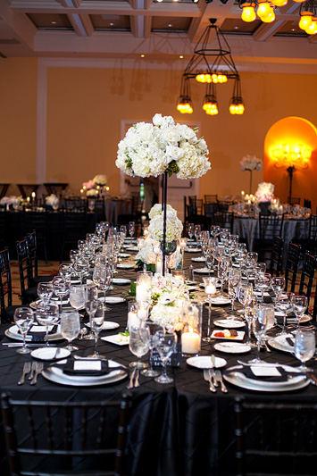 decoration mariage noir