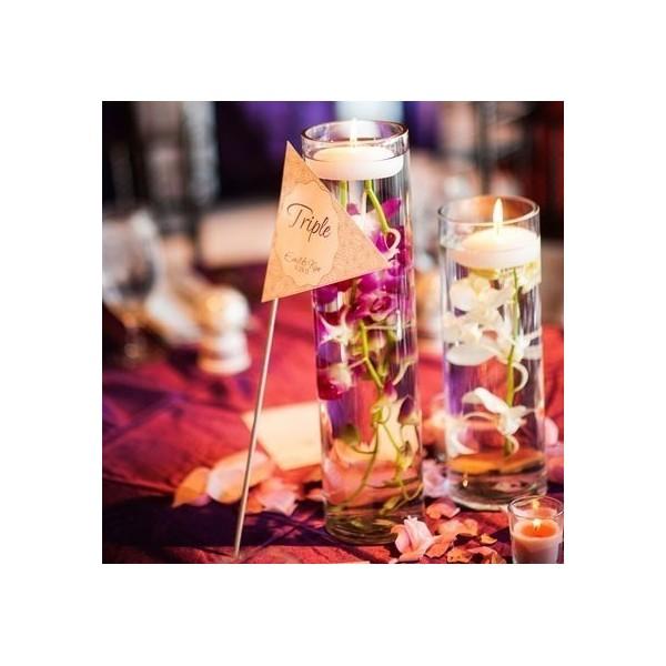 bougies de mariage flottantes grande taille une bougie plusieurs centres de table d coration. Black Bedroom Furniture Sets. Home Design Ideas