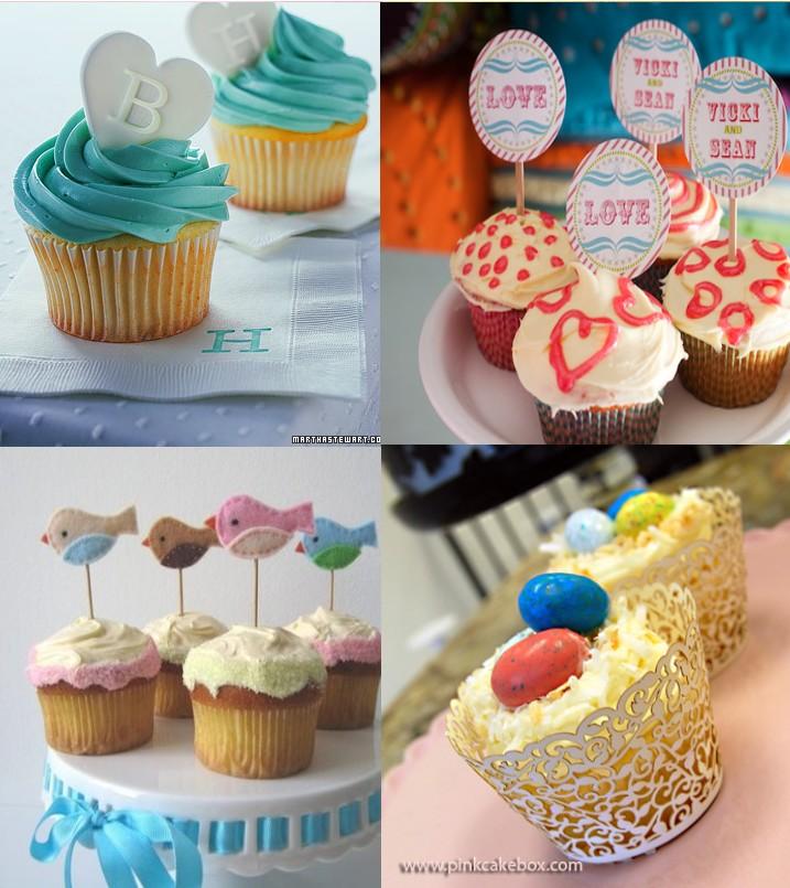 Cupcake carton decore - Deco pour cupcake ...