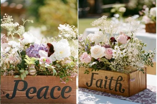 Cageot bois vintage mariage - Tige de bois pour decoration ...