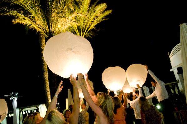 lanterne allumer mariage