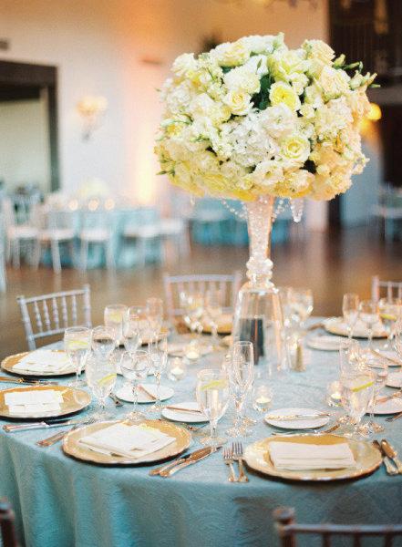 D coration mariage tendance - Deco de table bleu et gris ...