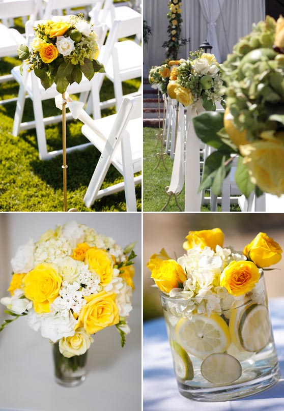 Decorations de mariage jaune champetre d coration for Decoration jaune