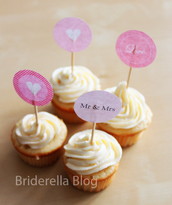 Les minis decors a cupcakes ou cercles a imprimer d coration mariage tendance - Deco pour cupcake ...