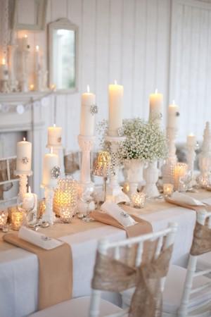 decoration mariage en toile de jute