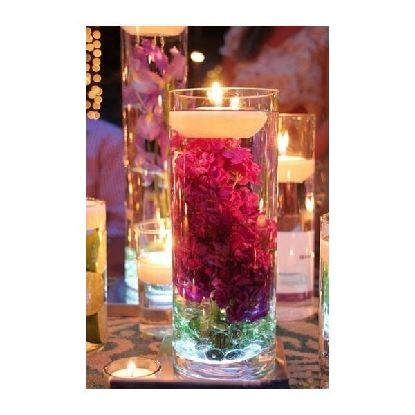 Bougies de mariage flottantes grande taille une bougie - Decoration de table avec bougies ...