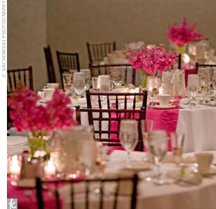 D co de mariage blanche les meilleures id es d coration - Chemin de table rose pale ...
