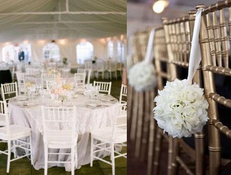 que de choisir des nappes blanches pour une décoration de mariage ...