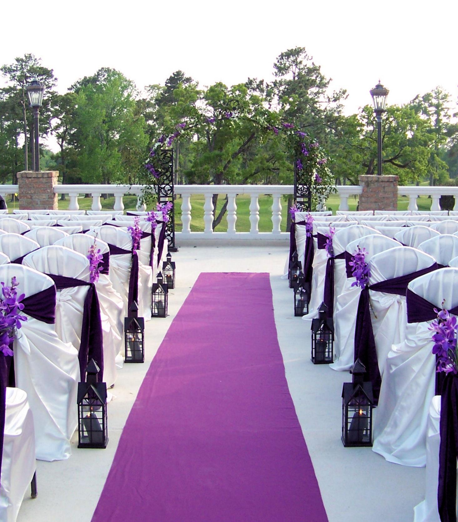 Idées pour le mariage violet et rouge