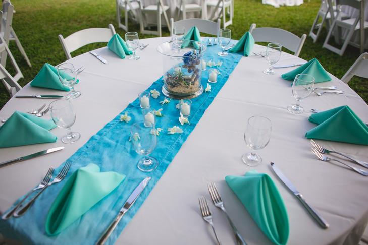 Decoration Bleu Et Marron : Décoration de mariage bleu aqua tendance
