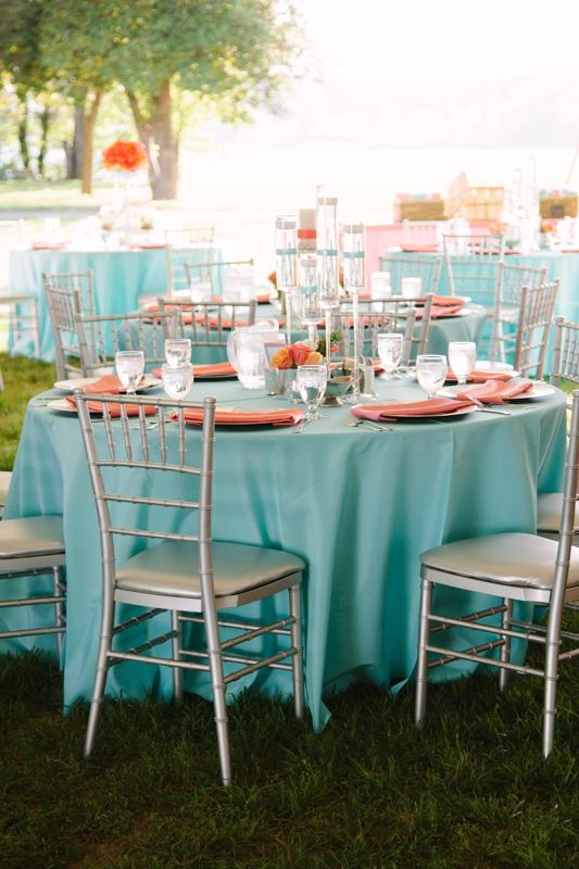 D coration de mariage corail d coration mariage tendance - Deco de table bleu ...