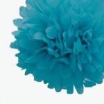 pompon-en-papier-30cm-bleu-caraibe