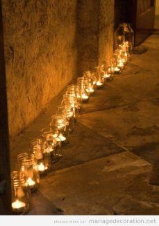 chemin bougies