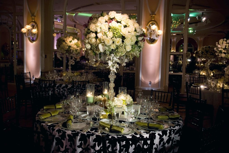 Decoration salle mariage glamour chic