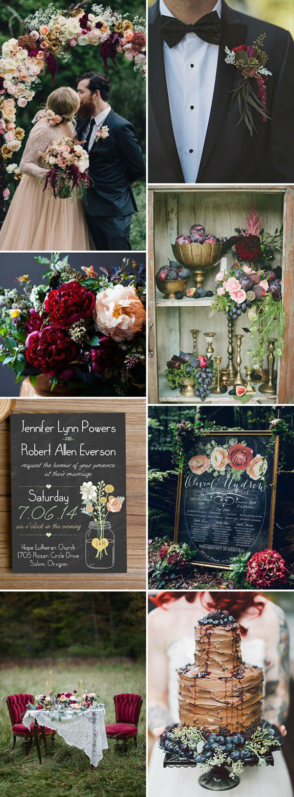 berry-red-and-black-inspiration-woodland-wedding-ideas