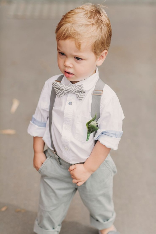 cute-ring-bearer-in-chevron-bow-for-summer-wedding-ideas