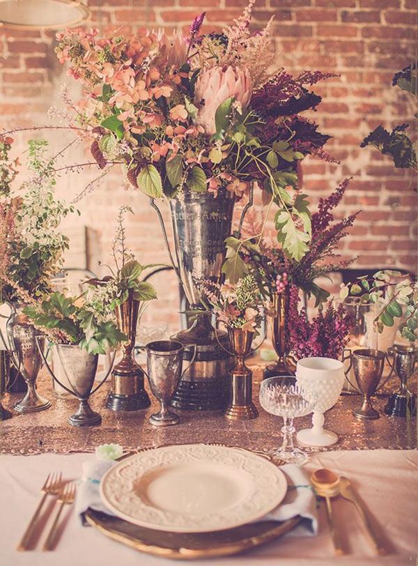 loft-style-vintage-lush-wedding-arrangements