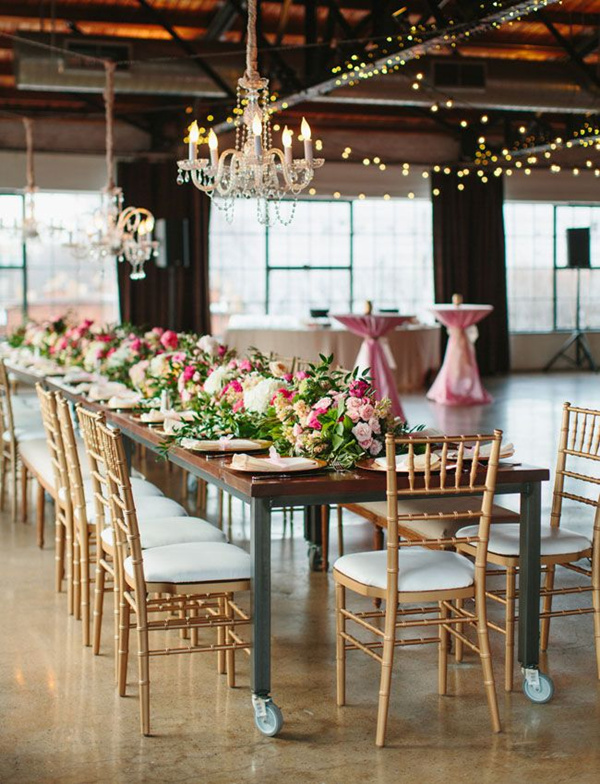 pink-and-gold-wedding-tablescape-with-a-chandelier