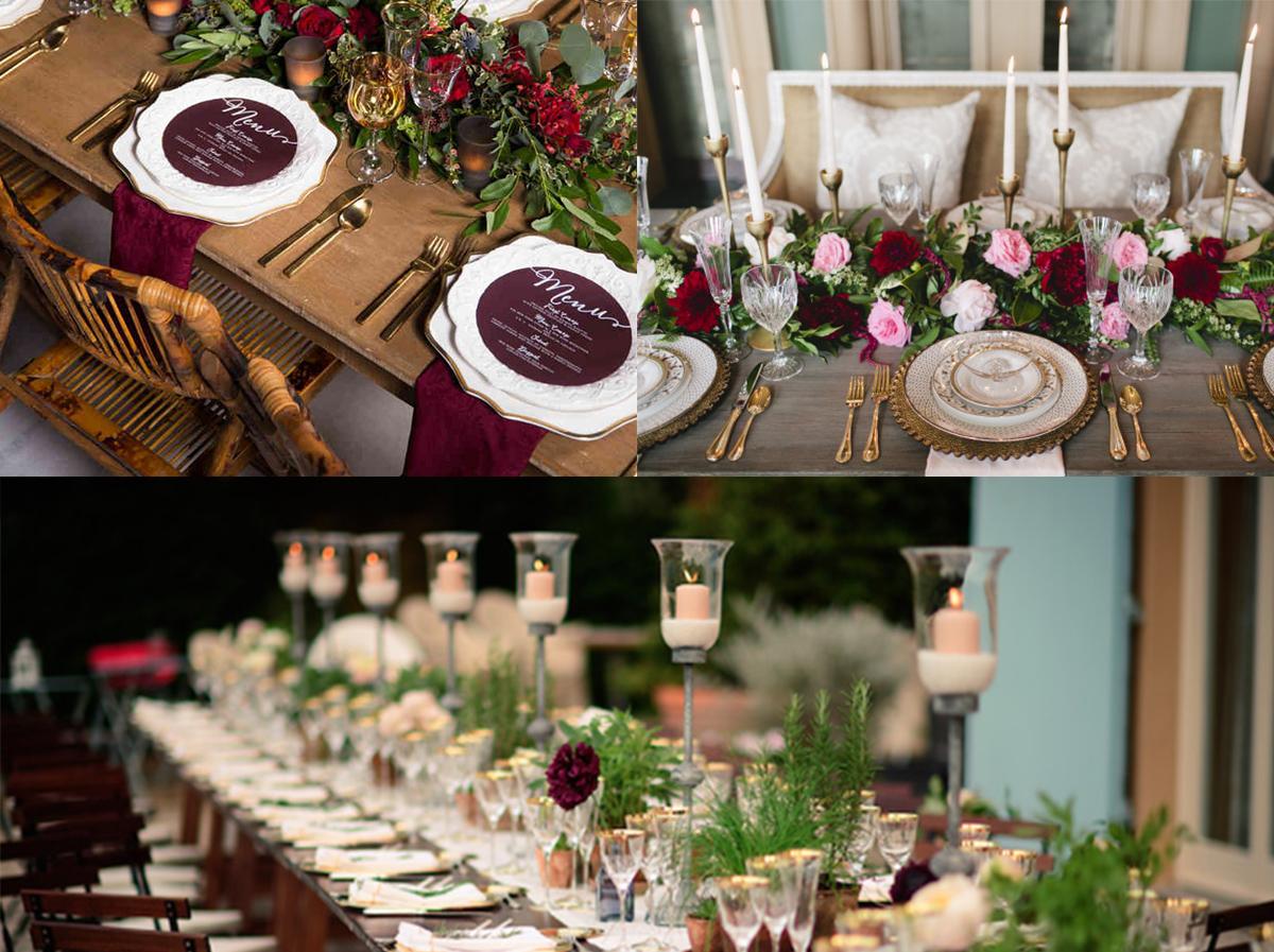 Composition Florale Centre De Table Automne le retour du bordeaux en d�co de mariage – d�coration