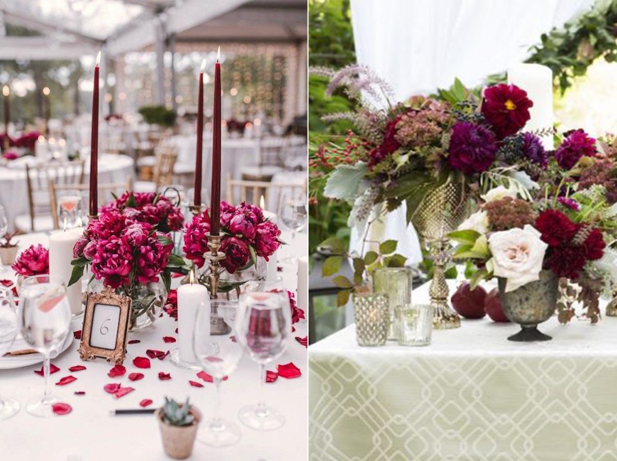 Deco Centre Table Romantique 1 Decoration Mariage Tendance